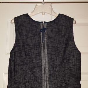 Elie Tahari blue tweed shift dress, size 10